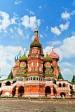 A catedral da manjericão de Saint, quadrado vermelho, Moscou, Rússia Fotos de Stock Royalty Free
