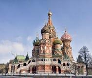 Catedral da manjericão do St no quadrado vermelho em Moscovo fotos de stock royalty free