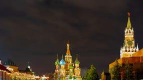 A catedral da manjericão do St, quadrado vermelho moscow Rússia imagem de stock