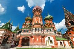 Catedral da manjericão de Saint no quadrado vermelho em Moscou, Rússia Fotos de Stock