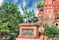 A catedral da manjericão de Saint no quadrado vermelho em Moscou, Rússia Fotografia de Stock