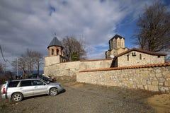 Catedral da natividade de Cristo na vila de Katskhi, Geórgia fotos de stock