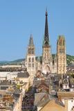Catedral da Notre-represa em Rouen Imagem de Stock Royalty Free