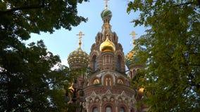 Catedral da ressurreição de Cristo no sangue, ou a igreja do salvador no sangue em St Petersburg Imagens de Stock
