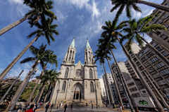 CATEDRAL DA SE - Sao Paulo / Metropolitan Cathedral - Brazil. The Sao Paulo See Metropolitan Cathedral See and cathedra mean seat and therefore the stock photo