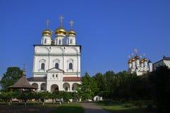 A catedral da suposição de Joseph Volokolamsk Monastery imagens de stock
