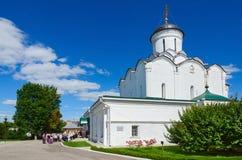Catedral da suposição do convento santamente de Dormition Knyaginin, Vladim Imagens de Stock