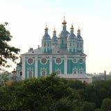 Catedral da suposição do Virgin abençoado em Smolensk fotografia de stock royalty free
