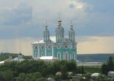 Catedral da suposição do Virgin abençoado em Smolensk imagens de stock royalty free