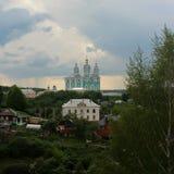 Catedral da suposição do Virgin abençoado em Smolensk fotos de stock