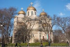 Catedral da suposição do Virgin em Varna, Bulgária Imagens de Stock Royalty Free