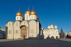 Catedral da suposição, Kremlin de Moscou foto de stock royalty free