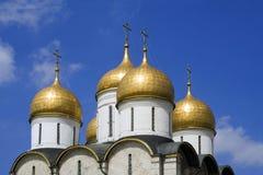 A catedral da suposição (Moscovo Kremlin, Rússia) Imagens de Stock Royalty Free