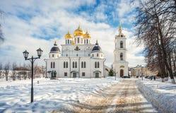 Catedral da suposição no Kremlin em Dmitrov imagens de stock