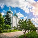 Catedral da suposição no Lavra em Sergiev Posad imagens de stock royalty free