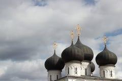 Catedral da suposição no monastério de Trifonov da suposição em Kirov, Rússia Imagem de Stock Royalty Free