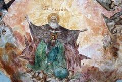 Catedral da transfiguração no Kremlin de Uglich, Rússia Ícone no teto Imagens de Stock Royalty Free