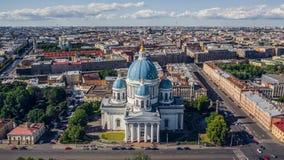 Catedral da trindade em St Petersburg foto de stock