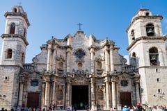 A catedral da Virgem Maria em Havana, Cuba Fotos de Stock Royalty Free