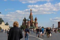 Catedral das manjericões do St no quadrado vermelho em Moscovo Foto de Stock