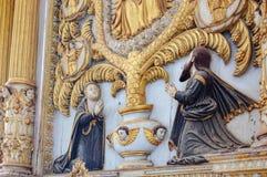 Catedral de圣卡塔琳娜州在果阿旧城,印度 免版税库存照片