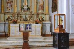 Catedral de圣卡塔琳娜州在果阿旧城,印度 免版税库存图片