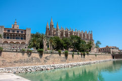Catedral de马略卡,帕尔马,西班牙 免版税库存照片