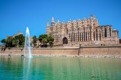 Catedral de马略卡,帕尔马,西班牙 库存照片