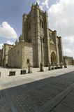 Catedral de �vila � �vila Cathedra, Cathedral of Avila, the oldest Gothic church in Spain in the old Castilian Spanish villa Royalty Free Stock Images