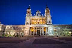 Catedral de Λα almudena de Μαδρίτη, Ισπανία Στοκ Εικόνα