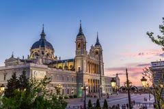 Catedral de Ла almudena de Мадрид, Испания Стоковые Фото