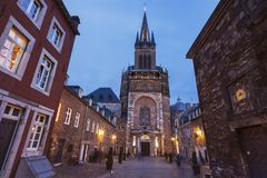 Catedral de Aix-la-Chapelle em Aix-la-Chapelle Imagens de Stock