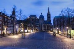 Catedral de Aix-la-Chapelle em Aix-la-Chapelle Fotos de Stock Royalty Free
