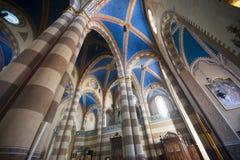 Catedral de alba (Cuneo, Itália), interior Imagem de Stock