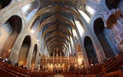 Catedral de Albi del sitio de la herencia de la UNESCO en Francia Imágenes de archivo libres de regalías