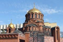 Catedral de Alexander Nevski en Rusia foto de archivo libre de regalías
