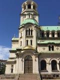 Catedral de Alexander Nevsky del santo en Sofía, Bulgaria Foto de archivo