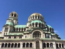 Catedral de Alexander Nevsky del santo en Sofía, Bulgaria Imagenes de archivo
