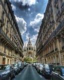 A catedral de Alexander Nevsky em Paris imagens de stock