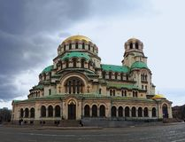 Catedral de Alexander Nevsky, Sof?a, Bulgaria foto de archivo libre de regalías