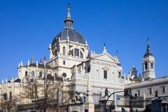 Catedral de Almudena em Madrid Fotografia de Stock