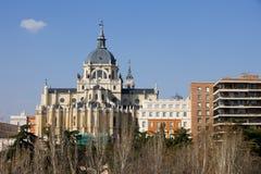 Catedral de Almudena en Madrid Imagen de archivo libre de regalías
