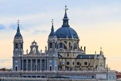Catedral de Almudena, Madrid, España Fotografía de archivo libre de regalías