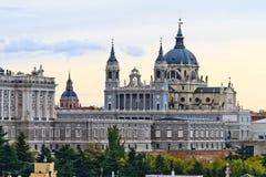 Catedral de Almudena, Madrid, Spain Foto de Stock Royalty Free