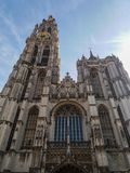 Catedral de Amberes, Bélgica fotos de archivo