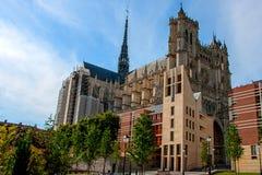 Catedral de Amiens Arquitetura gótico francesa fotografia de stock royalty free