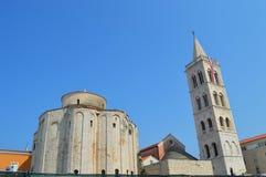 Catedral de Anastasia en Zadar Foto de archivo