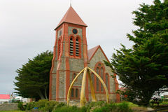Catedral de Anglical en Stanley portuario, Malvinas Imágenes de archivo libres de regalías