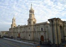 Catedral de Arequipa na manhã Imagem de Stock