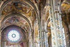 Catedral de Asti, interior Imagen de archivo libre de regalías